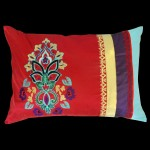 Iznik Rectangular Cushion Red/Teal
