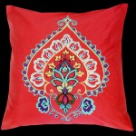 Iznik Square Cushion Red
