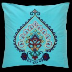 Iznik Square Cushion Teal