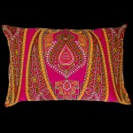 Persia Rectangular Cushion Pink/Green