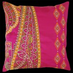 Persia Square Cushion Pink/Green