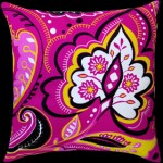 Graphic Paisley Square Cushion