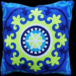 Blue Souk Medallion Cushion