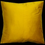 Empire Silk Cushion Yellow